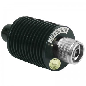 ATF-030 -4GHz  30W   Precision 30W coaxial matched load ATS  serial coaxial fixed termination's average power 2W-10KW, frequency range dc-18GHz and feature wide frequency band, low VSWR, excellent capacity in anti-pulse and anti-burnout.