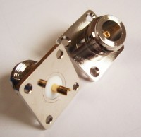 N type panel mounted socket  4 holes 50 ohm
