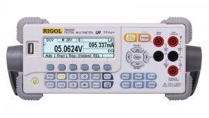 RIGOL DM3058E  5 1/2  Bench Dual Display Multimeter LAN/USB The Model DM3058 DMM gives reliable, cost effective, full DMM capabilities measuring DCV, ACV, DCI, ACI, Resistance (2 & 4 Wire), Capacitance, Diode Test, Frequency, and Temperature. These DMMs are designed for simple and efficient bench top use, but include software options for datalogging and remote programming from almost any interface. The DM3058 is a great bench tool for basic, reliable measurements regardless of your application or need.
