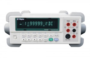 TH1951  5 1/2-digit true-RMS digital multimeter  The TH1951 is a high speed、high accuracy , 120,000 counts meter that meets the measurement needs of voltage、current and resistor. Its outstanding performances, such as high Reading Rate ( Max . 40 Readings/ Second ) ,and DC Voltage measurement accuracy up to 0.01%, provides an ideal cost-effective option for customer.