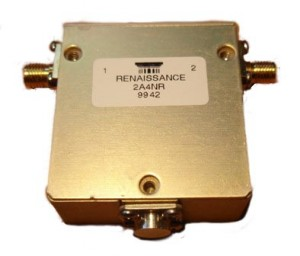 Renaissance electronics Coaxial Ferrite Isolator 1.7-2.4GHz SMA Female  2A4NR Renaissance electronics Isolator 1.7-2.4GHz Forward Power AVG 120W 2A4NRModel: 2A4NRSpecifications:Model: 2A4NRFrequency range: ...1.7 - 2.4 GHz Isolation: ..........>20dB Insertio Loss: ......<-0.4dBVSWE:.................<1.25