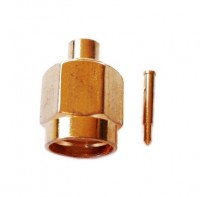 "SMA Plug  for Semi-rigid RG405, 0.086"" cable solder"