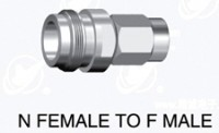 N  type female  (50ohm) to F type male  adapter