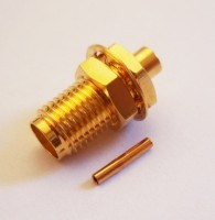 "SMA  Socket for Semi Flexible 0.086""  RG405 Cable Solder"