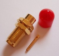"SMA Socket for Semi Flexible 0.141""  RG402 Cable Solder"