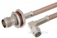 RG400 M12/128 Cable TNC (BH ) female to SMA male RA