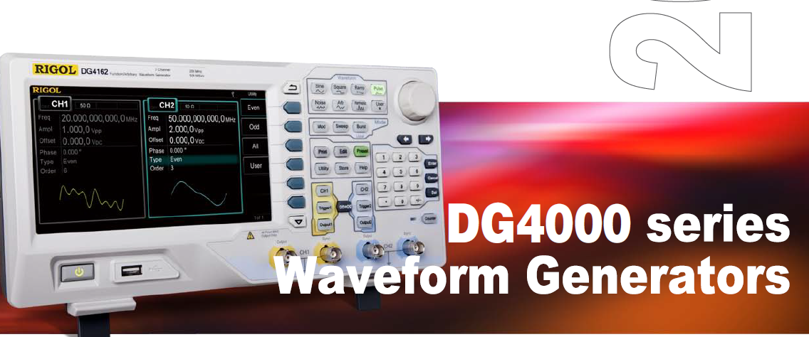 Rigol waveform generators