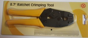 "HT-336K 8.7"" Ratchet Hex Crimping Tool for RG316 RG174 RG179 RG213 LMR400 RG8 RG11 Coax Cables 