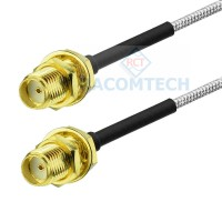 SMA female to SMA female RG402 Semi Rigid / Flexible  Coax Cable RoHS