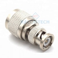 BNC plug male to N type plug male connector adapter 50ohm