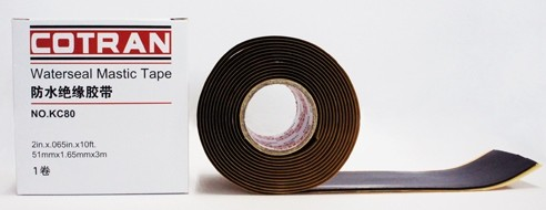 Cotran  KC80 Rubber Mastic Tape ( 3M roll ) Cotran KC80  Insulating Butyl  Mastic Seal Tape is equal to Rubber Mastic Tape, SCOTCH 2228, 50mm x 1.65mm x 3M, application doe electrical cable seal.