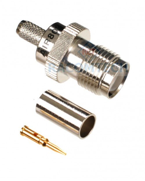 RP-TNC- PIN Connector for LMR195; RG-58 RP-TNC PIN CRIMP PLUG FOR LMR-195; RG-58