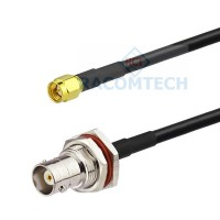 BNC Bulkhead female to SMA male RG58 C/U Mil Spec Coaxial Cable