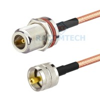 RG400  Cable  UHF male to N bulkhead Socket
