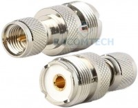 Min UHF male to UHF SO239  femal connector adapter 50ohm