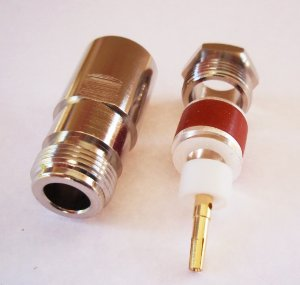 N type Socket Connector for  Cable RG213 RG214 , LMR400  Connector  N type Jack for Cable RG213 RG214 LMR400 Clamp Connector - 50ohm