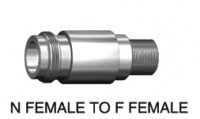 N  type female (75 ohm)  to F type female adapter 75ohm