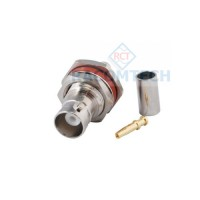 BNC Bulkhead Socket Crimp LMR240 cable 50ohm