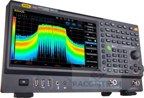 Rigol RSA5065 -TG  Real Time Spectrum Analyzer 9KHz - 6.5GHz Engineers integrating WiFi, Bluetooth and other modern RF technologies are confronted with complex challenges like frequency hopping signals, channel conflict, and spectrum interference.  Real-Time Spectrum Analyzers bring the dimension of time to RF Analysis making it easier to monitor and characterize these complex RF systems.  The RSA5000 combines industry leading realtime performance (7.45µs 100% POI), rich data displays, and advanced triggering options allowing the user to quickly capture, identify and analyze these complex events.