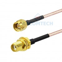 RG316 Cable N bulkhead to SMA male