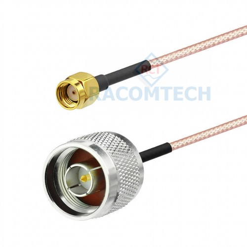 RG316 N Male to RP_SMA Plug RG316 flexible 50 Ohm coax cable with FEP jacket is rated for a 3 GHz maximum operating frequency. This 50 Ohm 0.098 inch diameter and flexible coax cable is built with a shield count of 1