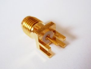 SMA Jack ( Socket ) for PCB Side Mount  SMA Jack ( Socket ) for PCB Side Mount for 1.2mm PCB