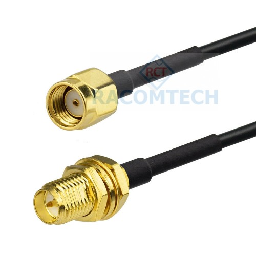 RP-SMA male to RP-SMA female LMR100  Coaxial  Cable  RoHS Impedance: 50 ohm,