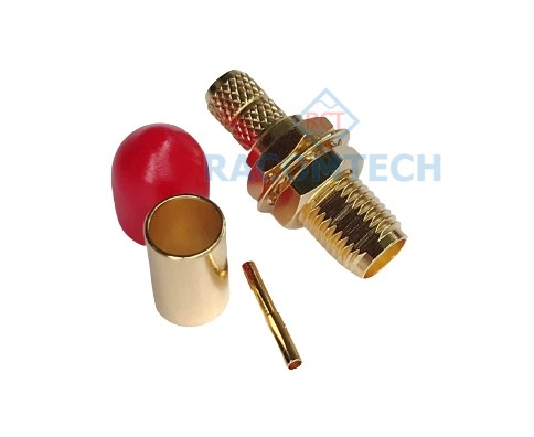 SMA Jack ( Socket ) Crimp RG58 RG142 LMR195 Cable Straight Connector  SMA Jack ( Socket ) Crimp RG58 RG142 LMR195 Cable Straight Connector