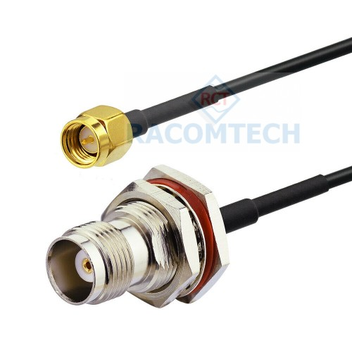BNC female to SMA male LMR100  Coaxial  Cable  RoHS Impedance: 50 ohm,