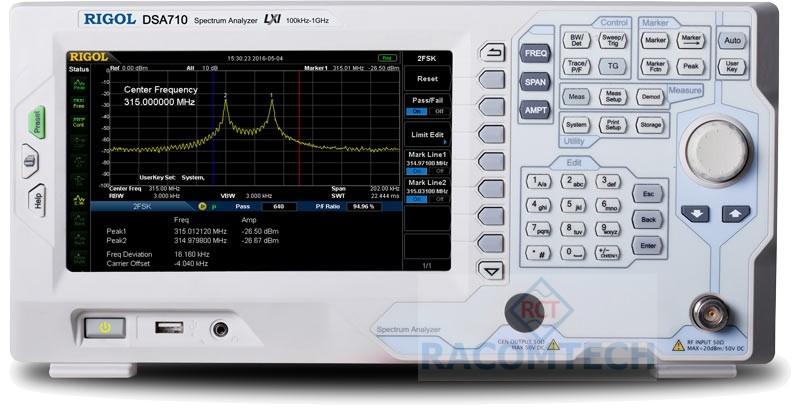 Rigol DSA705 0 5GHz Spectrum Analyser Australia