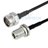 N male to N bulkhead RG58 C/U Coaxial Cable