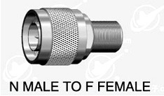 N type male (75 ohm) to F type  female adapter 75 ohm N male to F series female adapter 75 ohm