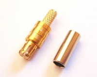 MCX  Crimp Plug (male) for RG316 LMR100 cables