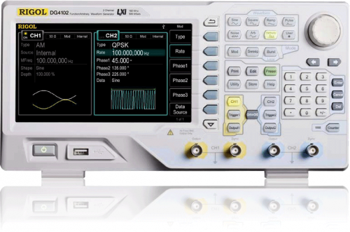 "Rigol   DG4102  100MHz, 500Msa/s  2Ch 7"" LCD  Generators up to 160 MHz (DG4000)