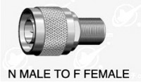 N type male (50 ohm ) to F type  female  adapter